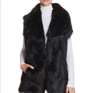 Via Spiga Faux Fur Black Vest